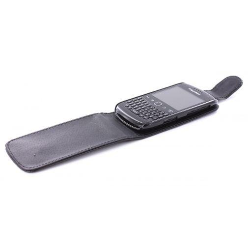 Productafbeelding van de Mobiparts Flip Case Black BlackBerry Curve 9360