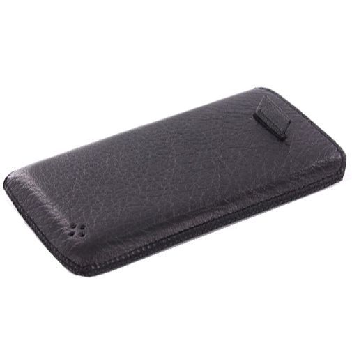 Productafbeelding van de Mobiparts Luxury Pouch Apple iPhone 5 Black
