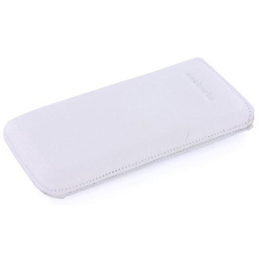 Productafbeelding van de Mobiparts Luxury Pouch Apple iPhone 5 White