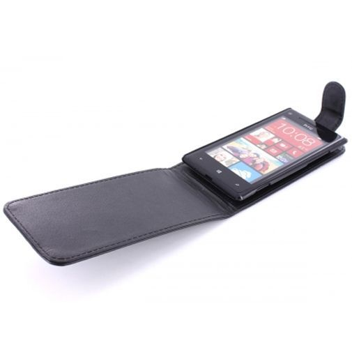 Productafbeelding van de Mobiparts PU Flip Case HTC Windows 8X Black