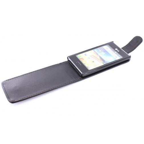 Productafbeelding van de Mobiparts PU Flip Case LG Optimus L5 Black
