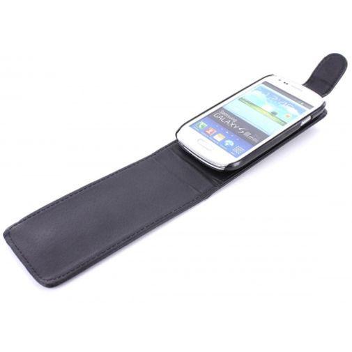 Productafbeelding van de Mobiparts PU Flip Case Samsung i8190 Galaxy S III Mini Black