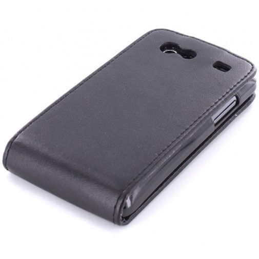 Productafbeelding van de Mobiparts PU Flip Case Samsung i9070 Galaxy S Advance Black