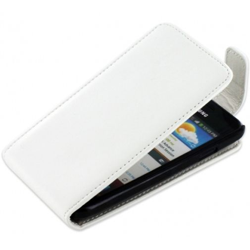 Productafbeelding van de Mobiparts PU Flip Case Samsung i9070 Galaxy S Advance White