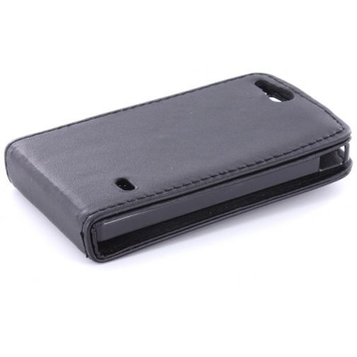 Productafbeelding van de Mobiparts PU Flip Case Sony Xperia Go Black