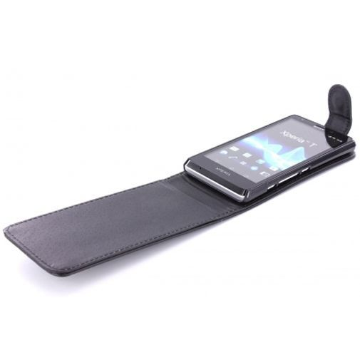 Productafbeelding van de Mobiparts PU Flip Case Sony Xperia T Black