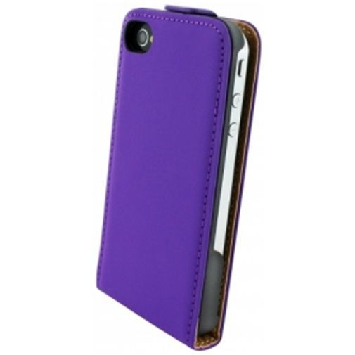 Productafbeelding van de Mobiparts Premium Flip Case Apple iPhone 4/4S Purple