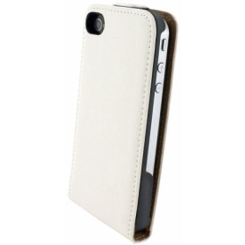 Productafbeelding van de Mobiparts Premium Flip Case Apple iPhone 4/4S White