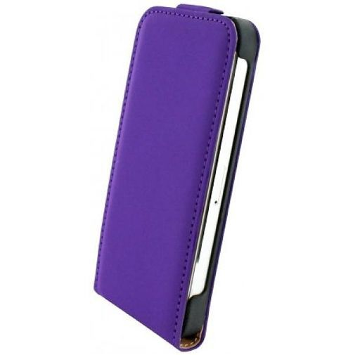 Productafbeelding van de Mobiparts Premium Flip Case Apple iPhone 5/5S Purple