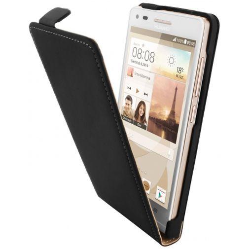Mobiparts Premium Flip Case Black Huawei Ascend G6 4G