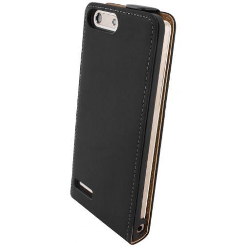 Productafbeelding van de Mobiparts Premium Flip Case Black Huawei Ascend G6 4G