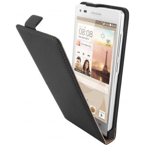 Productafbeelding van de Mobiparts Premium Flip Case Black Huawei Ascend G6
