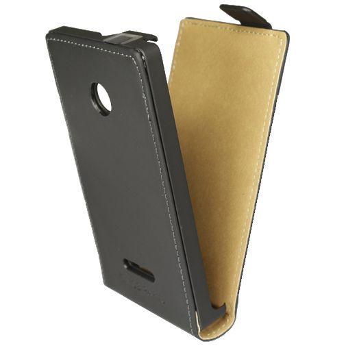 Productafbeelding van de Mobiparts Premium Flip Case Black Microsoft Lumia 435