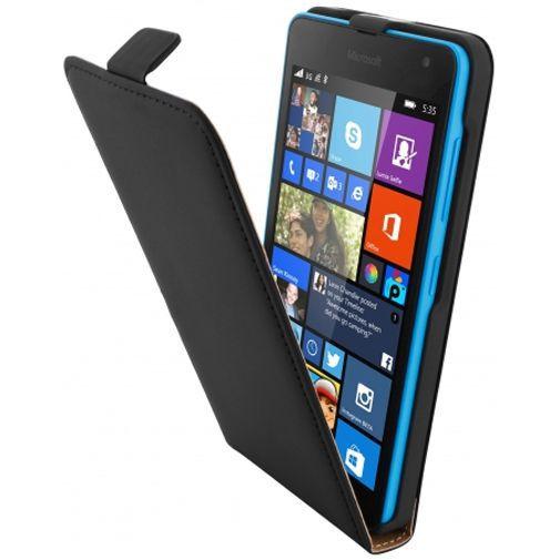 Productafbeelding van de Mobiparts Premium Flip Case Black Microsoft Lumia 535