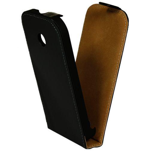 Productafbeelding van de Mobiparts Premium Flip Case Black Motorola Moto E