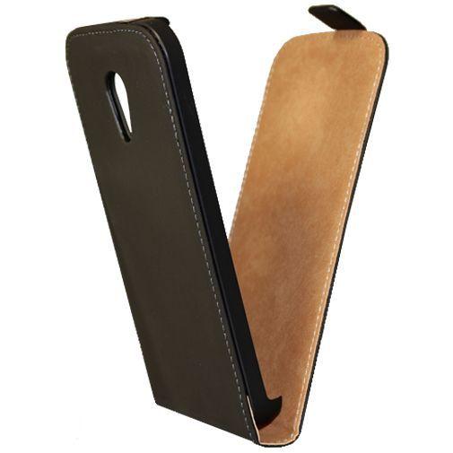 Produktimage des Mobiparts Premium Flip Case Schwarz Motorola New Moto G