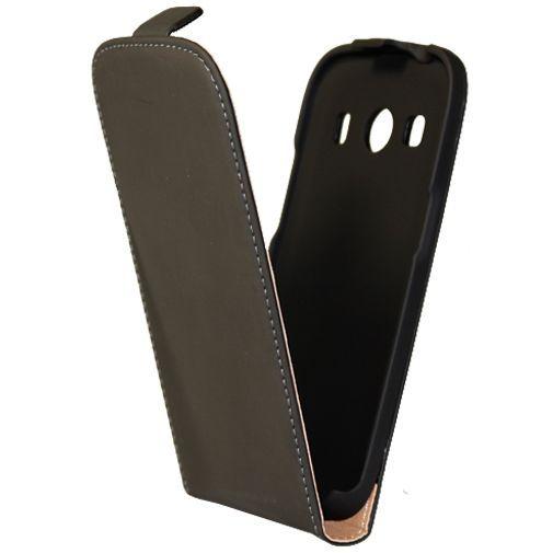 Productafbeelding van de Mobiparts Premium Flip Case Black Samsung Galaxy Ace 4