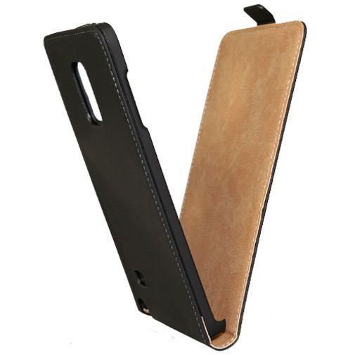 Productafbeelding van de Mobiparts Premium Flip Case Black Samsung Galaxy Note Edge