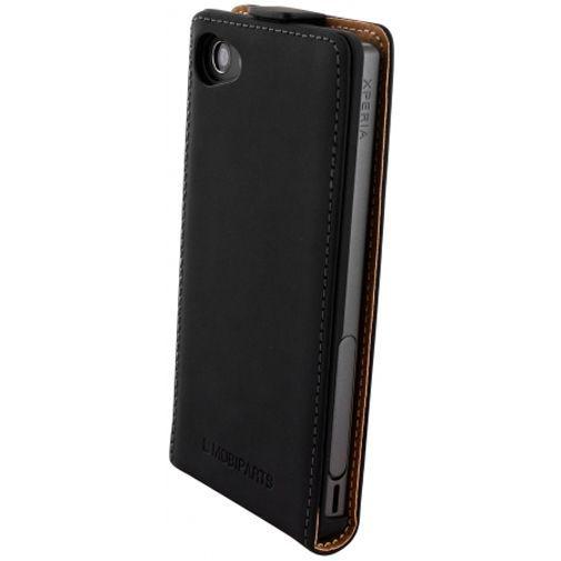Productafbeelding van de Mobiparts Premium Flip Case Black Sony Xperia Z5 Compact