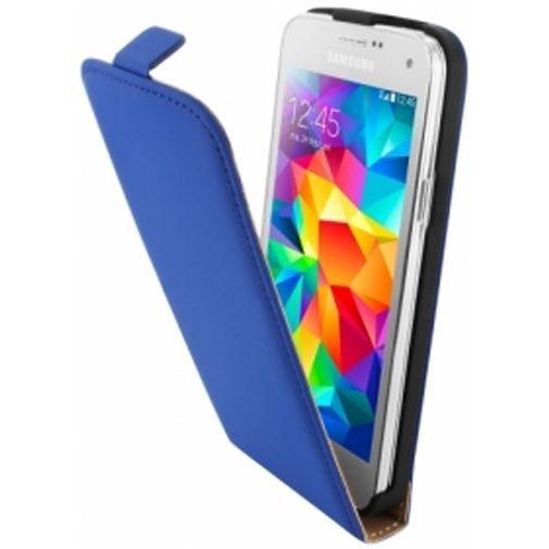 Productafbeelding van de Mobiparts Premium Flip Case Blue Samsung Galaxy S5 Mini