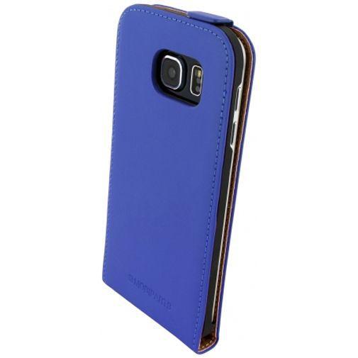 Productafbeelding van de Mobiparts Premium Flip Case Blue Samsung Galaxy S6