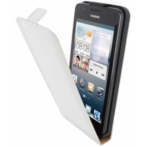 Productafbeelding van de Mobiparts Premium Flip Case Huawei Ascend G510 White