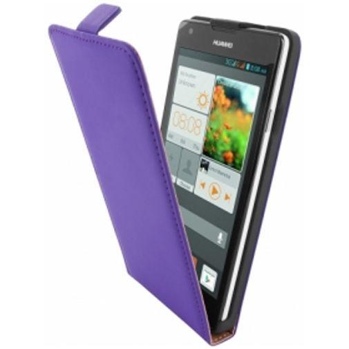 Productafbeelding van de Mobiparts Premium Flip Case Huawei Ascend G700 Purple