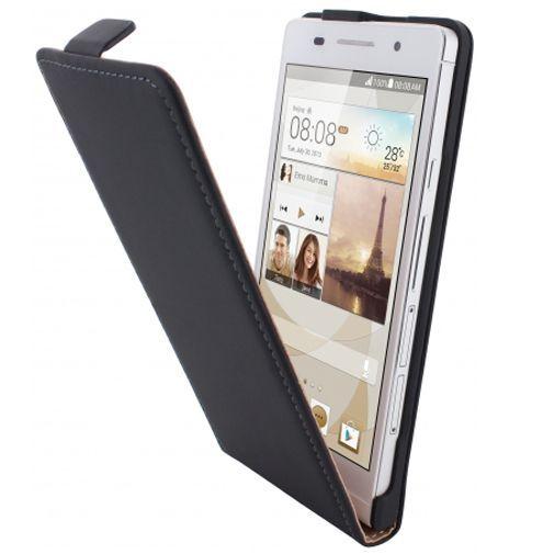 Productafbeelding van de Mobiparts Premium Flip Case Huawei Ascend P6 Black