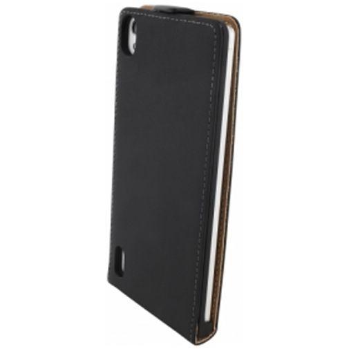 Productafbeelding van de Mobiparts Premium Flip Case Huawei Ascend P7 Black