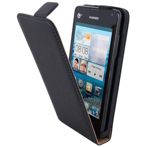Productafbeelding van de Mobiparts Premium Flip Case Huawei Ascend Y300 Black