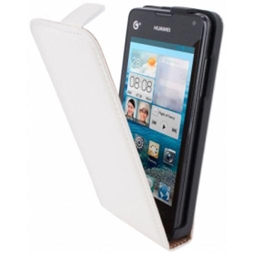 Productafbeelding van de Mobiparts Premium Flip Case Huawei Ascend Y300 White