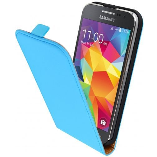 Productafbeelding van de Mobiparts Premium Flip Case Light Blue Samsung Galaxy Core Prime (VE)