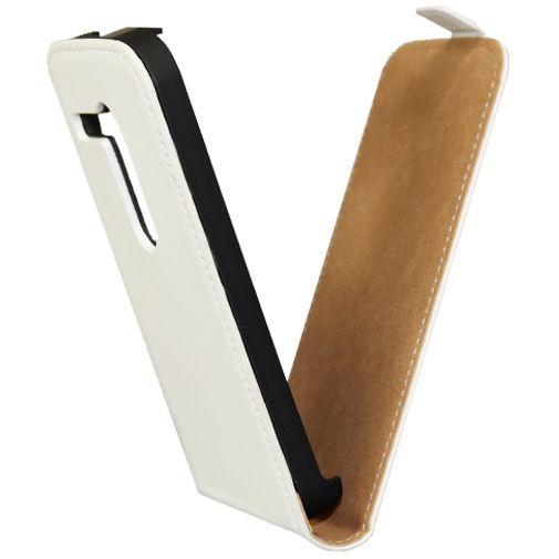 Productafbeelding van de Mobiparts Premium Flip Case Motorola Moto G White