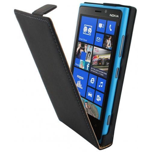 Productafbeelding van de Mobiparts Premium Flip Case Nokia Lumia 920 Black