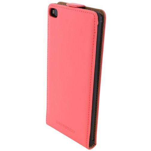 Productafbeelding van de Mobiparts Premium Flip Case Peach Pink Huawei P8