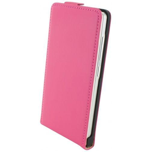 Productafbeelding van de Mobiparts Premium Flip Case Pink Huawei Ascend G6
