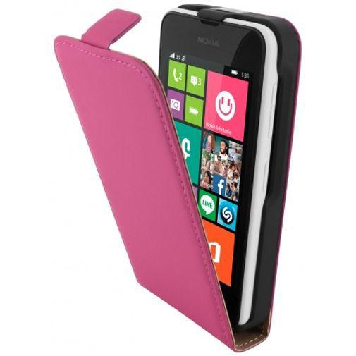 Productafbeelding van de Mobiparts Premium Flip Case Pink Nokia Lumia 530