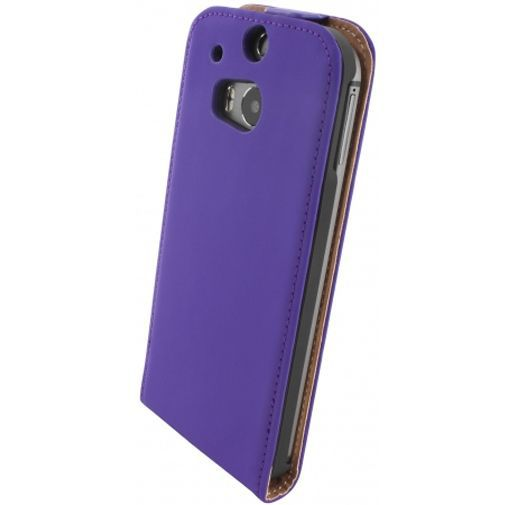 Productafbeelding van de Mobiparts Premium Flip Case Purple HTC One M8