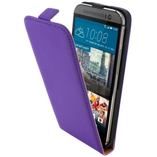 Productafbeelding van de Mobiparts Premium Flip Case Purple HTC One M9 (Prime Camera Edition)