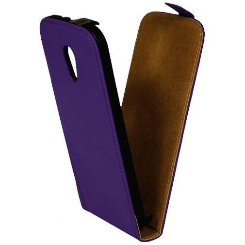 Productafbeelding van de Mobiparts Premium Flip Case Purple Motorola New Moto G