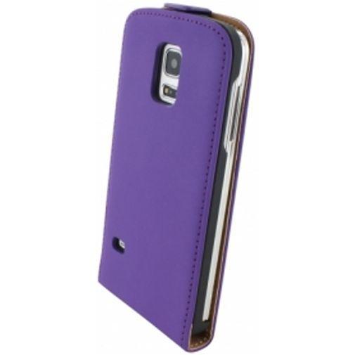 Productafbeelding van de Mobiparts Premium Flip Case Purple Samsung Galaxy S5 Mini