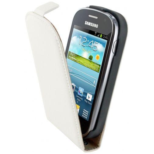 Productafbeelding van de Mobiparts Premium Flip Case Samsung Galaxy Fame White