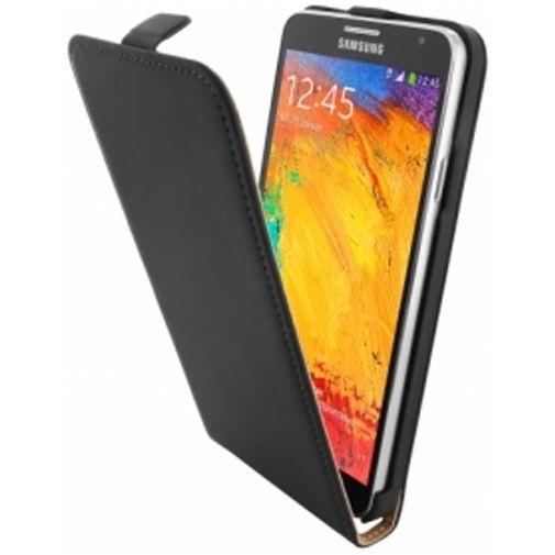 Productafbeelding van de Mobiparts Premium Flip Case Samsung Galaxy Note 3 Neo Black