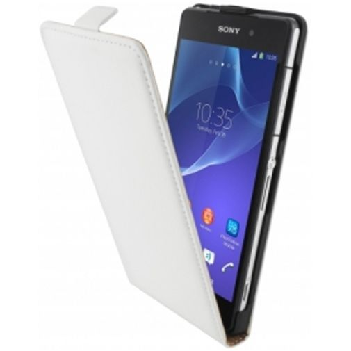 Productafbeelding van de Mobiparts Premium Flip Case Sony Xperia Z2 White