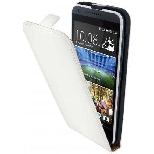 Productafbeelding van de Mobiparts Premium Flip Case White HTC Desire 620