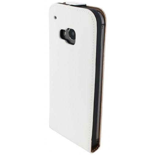 Productafbeelding van de Mobiparts Premium Flip Case White HTC One M9 (Prime Camera Edition)