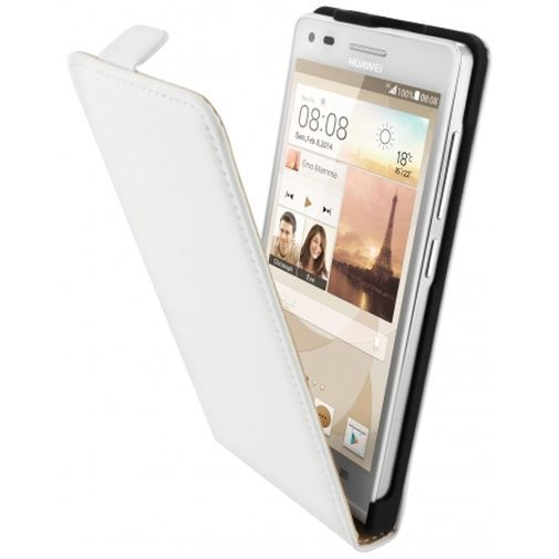 Productafbeelding van de Mobiparts Premium Flip Case White Huawei Ascend G6