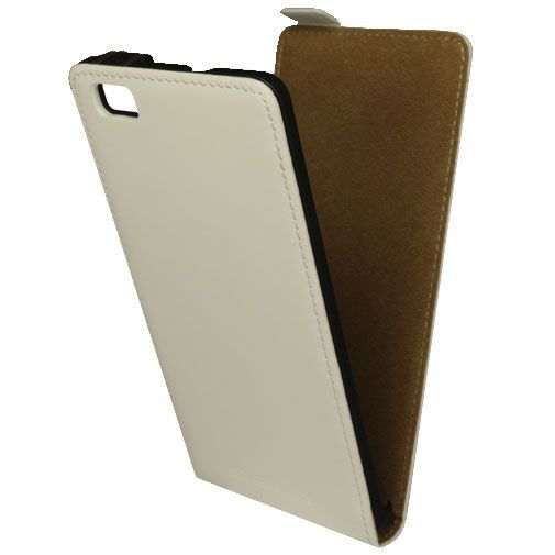 Productafbeelding van de Mobiparts Premium Flip Case White Huawei P8 Lite