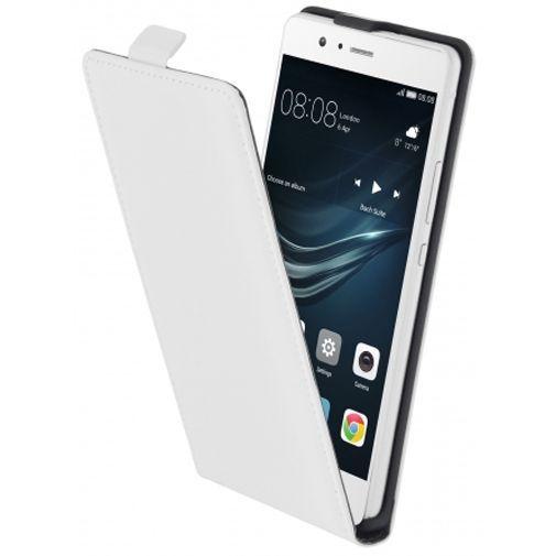 Productafbeelding van de Mobiparts Premium Flip Case White Huawei P9 Lite