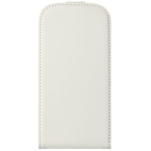 Mobiparts Premium Flip Case White Samsung Galaxy Ace 4